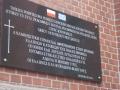 Tablica ku pamięci świdnickich Greków zmarłych w Polsce.
