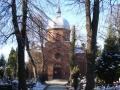 Cerkiew, widok od bramy.