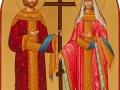 Ikona św. Konstntyna i Heleny, ofiara świdnickich Greków.