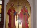 Św. Konstantyn i Helena ofiarowana przez greckich parafian 16 marca 2014 roku.